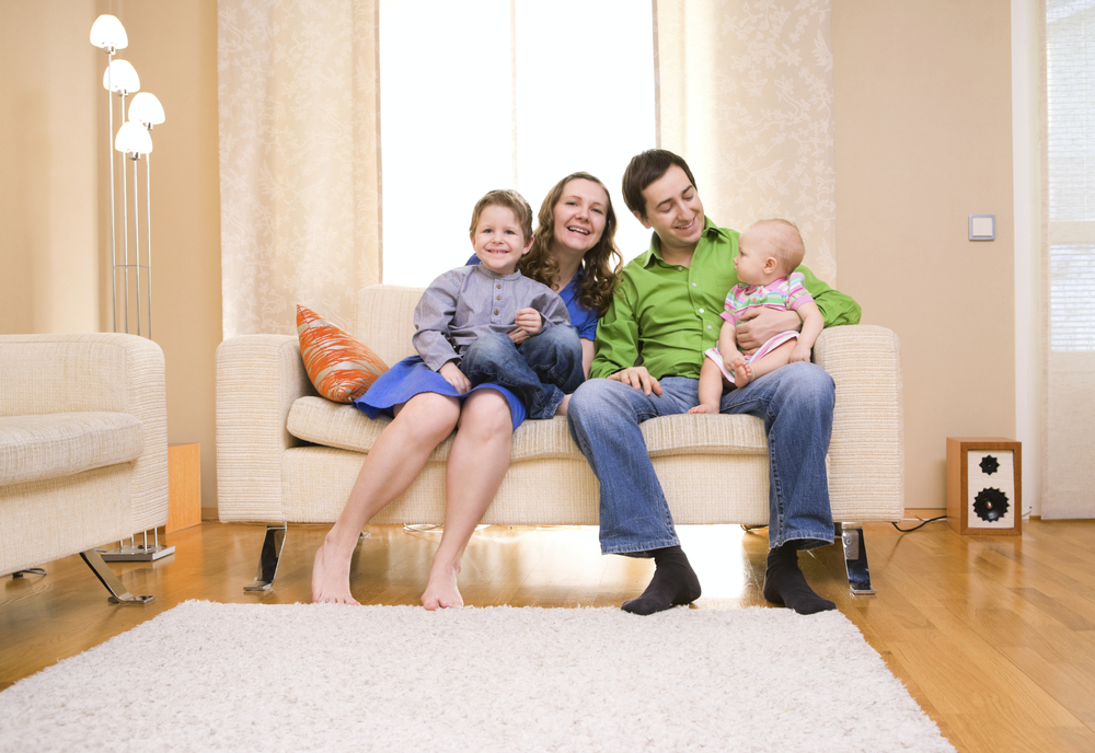 happy family in home california energy services