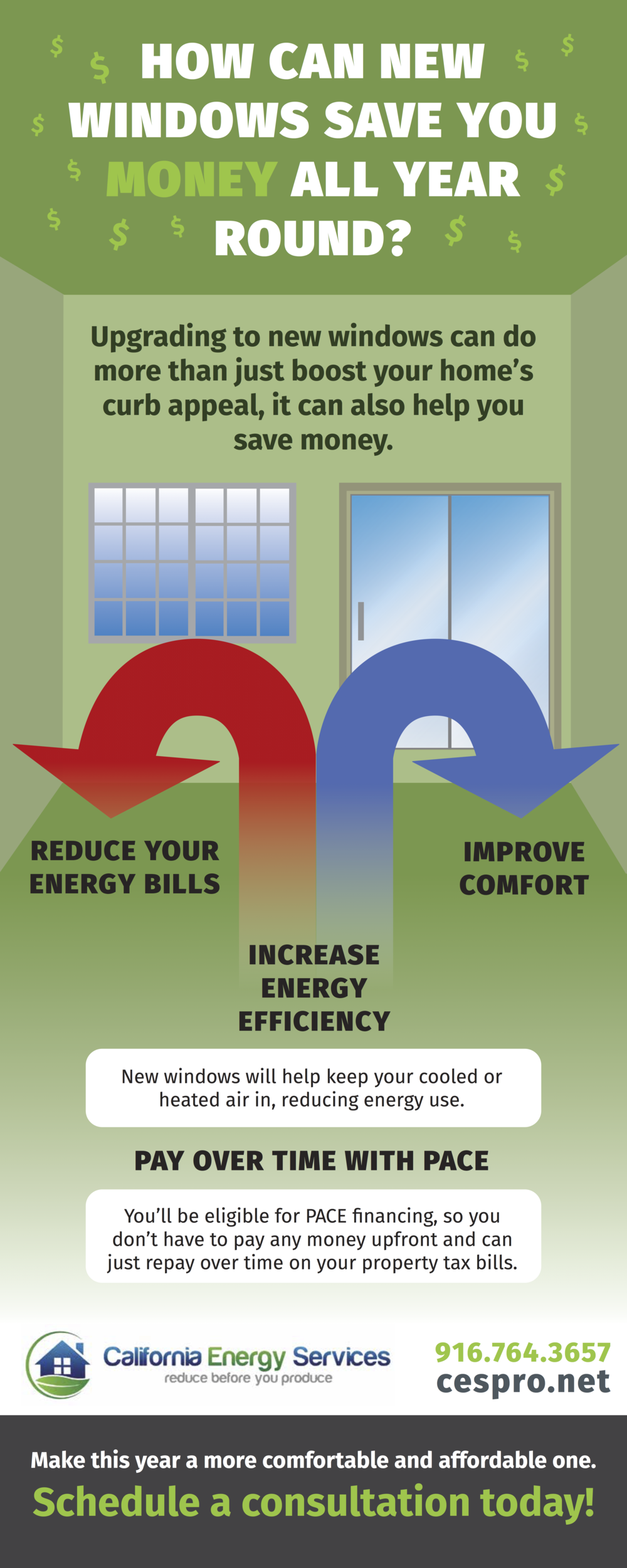 New Windows Save Money Infographic