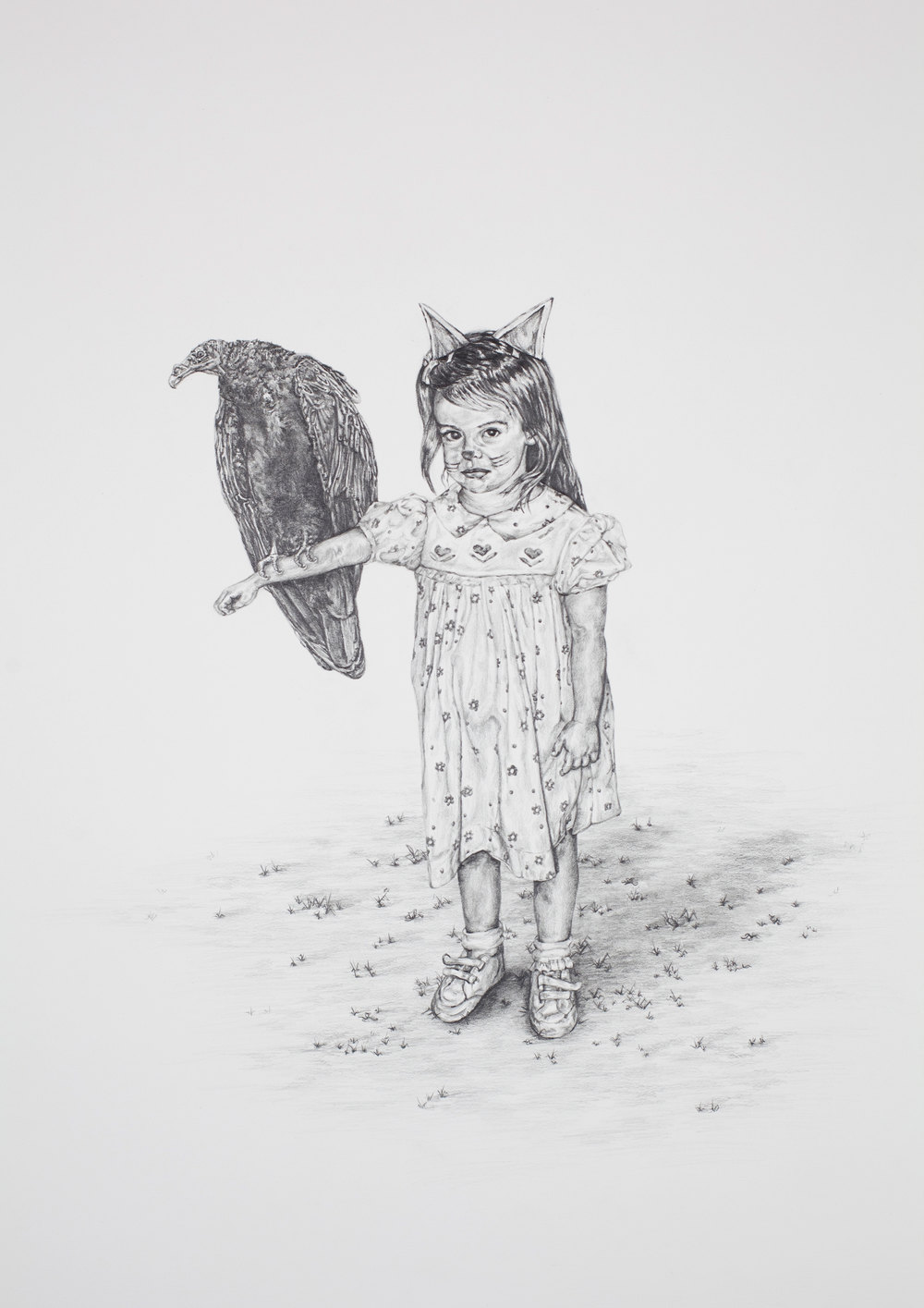 "I'll Carry You , 26""X22"", Graphite on paper, 2012"