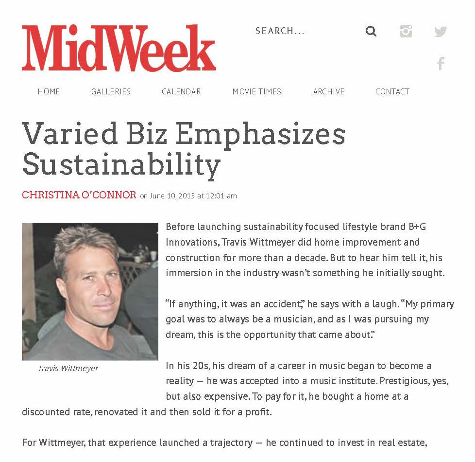 MIDWEEK SUSTAINABILITY, SEPTEMBER 2015