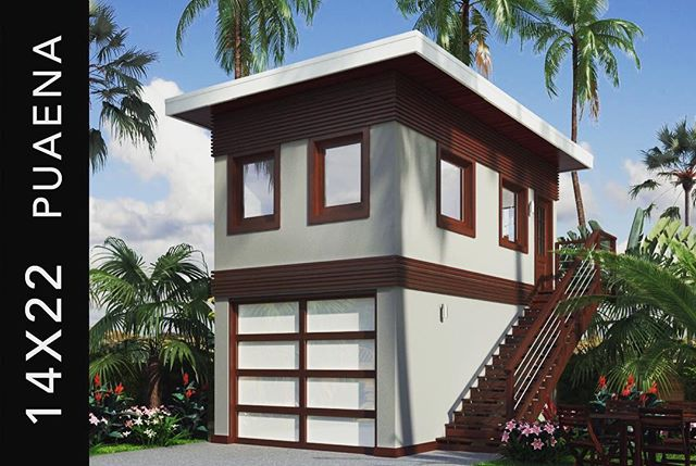 Add value and equity to your property by adding an #ADU (Accessory Dwelling Unit) shown here: One of our Turnkey Packages:: PUAENA || 14x22 2-story #ADU turnkey structure || Shown here in the 'Contemporay' Exterior || Your choice of color! ... #design #architecture #interiordesign #designbuild #designer #innovation #materials #products #furniture #furnituredesign #newdesign #hawaiidesign #hawaii #honolulu #moderndesign #scheme #art #color #luxuryhome #tinyhouse #oahu #islandstyle #tropical #paradise #coastal #islandlife #prefab