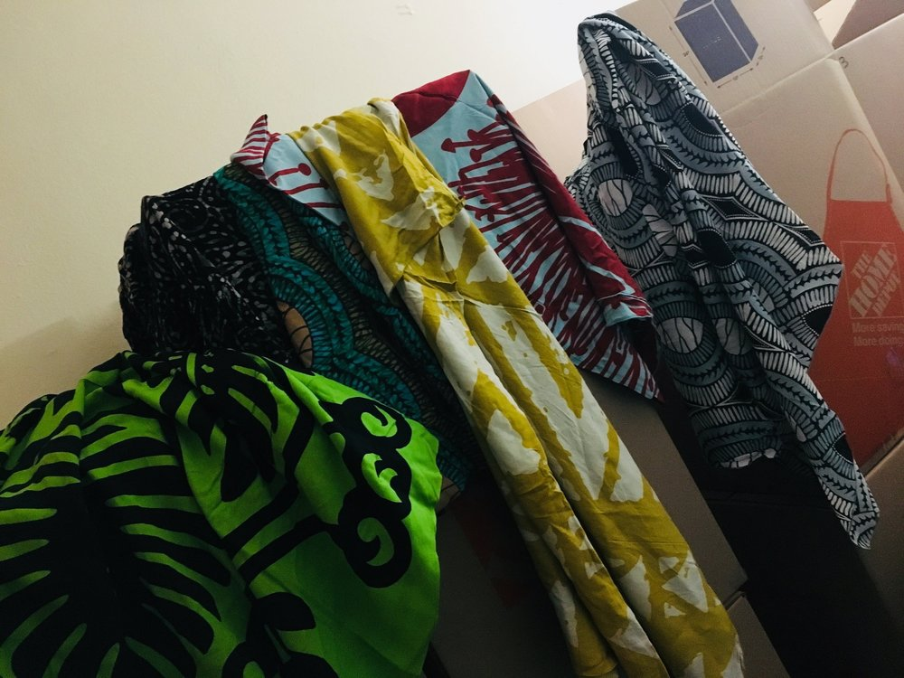 Sarong Designs Left to Right: Hawaiian Quilt (premium), Batik Rayon Knit, African Links, Fiji (new design! ) , Ohia Lehua, African Links (sometimes you need the same design in two colors : )