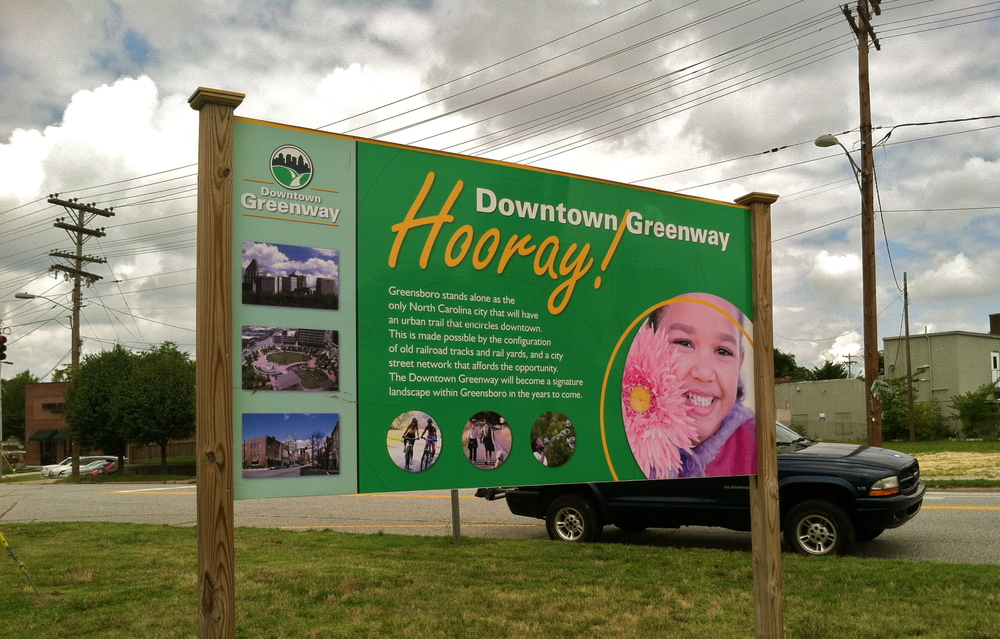 Sign About The Greenway Plans