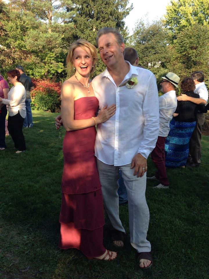 Christy sent us this photo of her wearing her Gaia dress for her wedding recently!