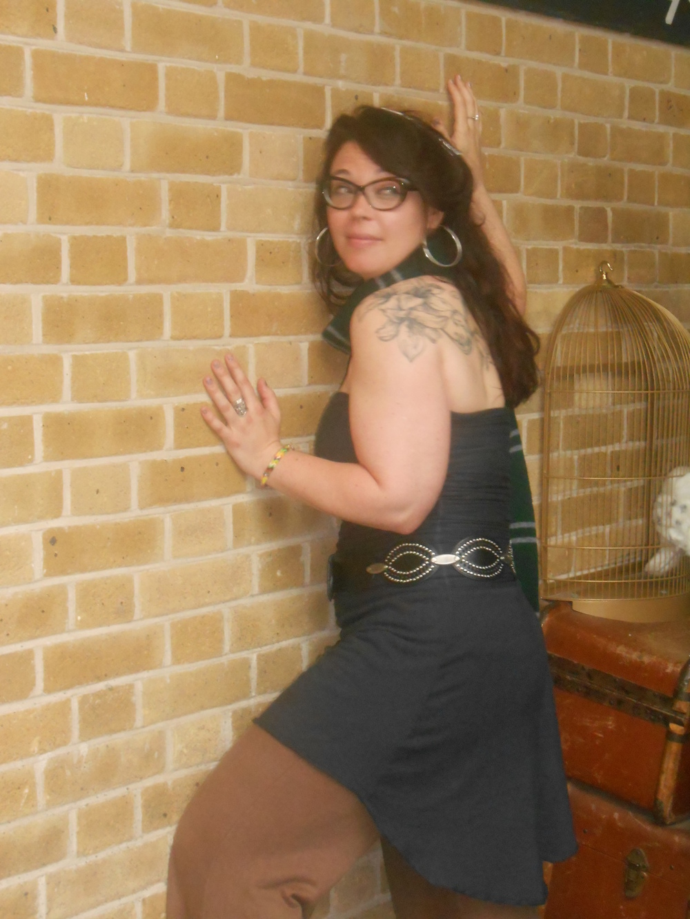 Attempting to go through the wall of platform 9 3/4 in my Gaia outfit (King's crossing, London)! - Marie