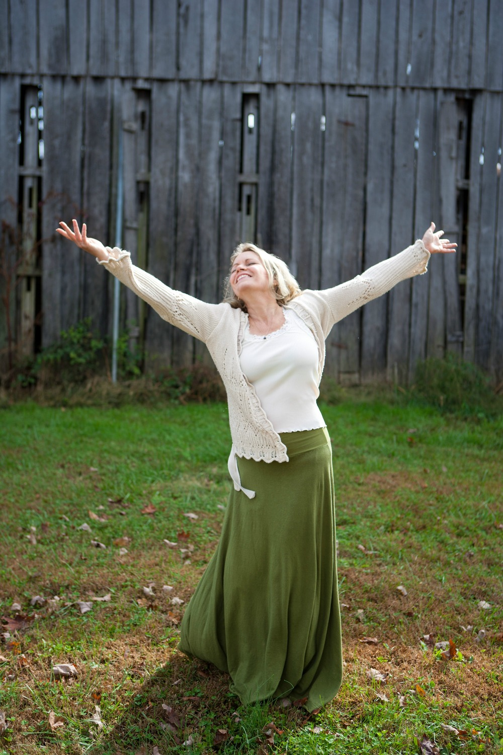 Wanderer Long Skirt - Dancing by our barn - Katrina M