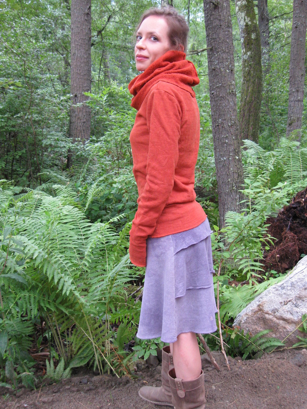 Cozy Pokara shirt and Ruffle Butt skirt in fleece! I love them! - Erin