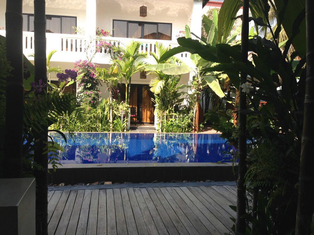 The view from our lanai. Ask for a room that opens onto the pool!