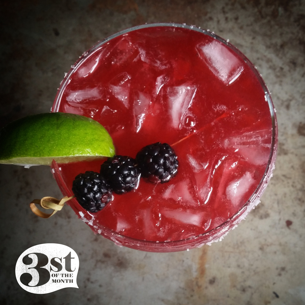 Salted Blackberry Margarita from 3stofthemonth.com