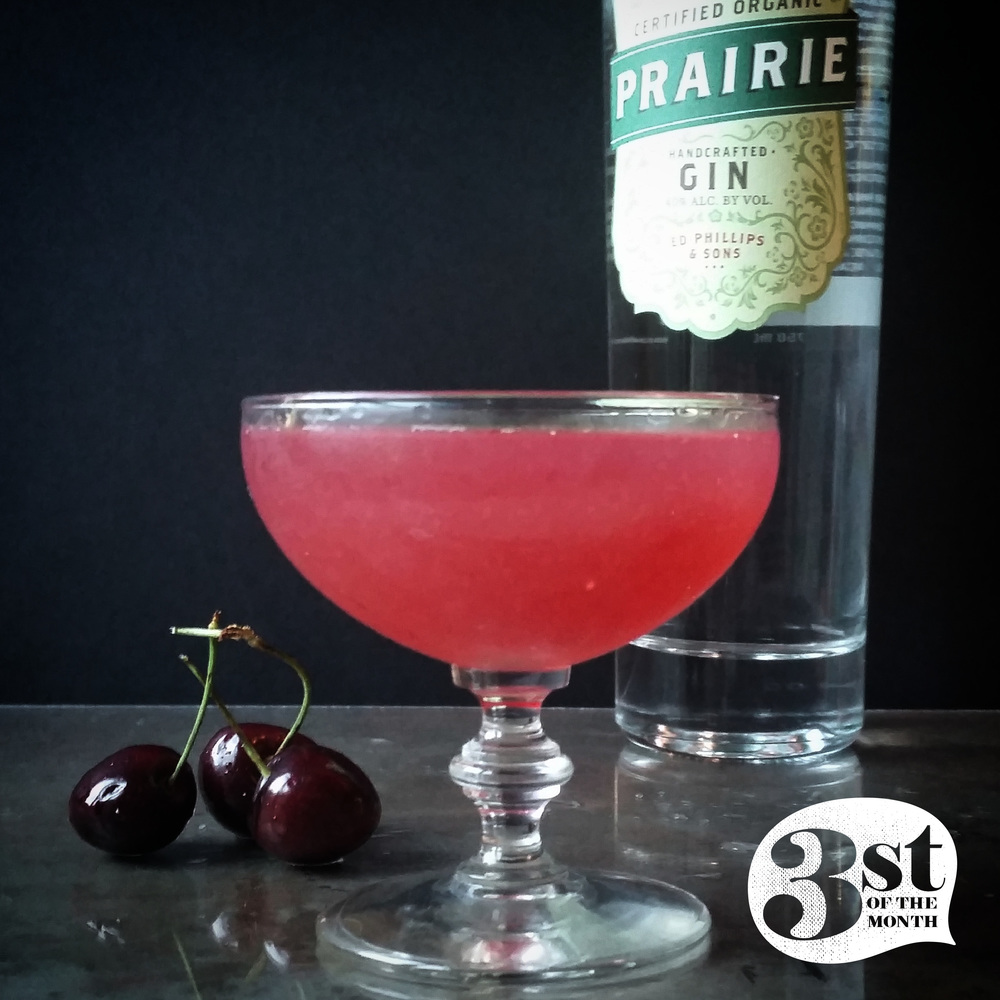 "Prairie Organic Gin and fresh cherry juice make this ""Cherry On Top"" cocktail one to pick!"