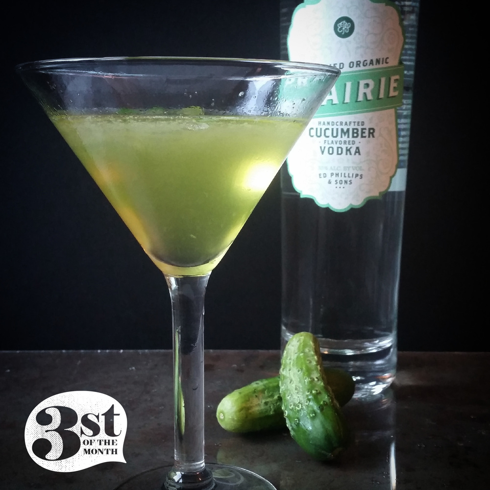 3st of the Month presents the Grassland cocktail - made with Prairie Organic Cucumber Vodka
