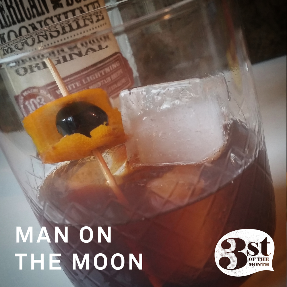Man on the Moon - a boozy moonshine cocktail from 3st of the Month
