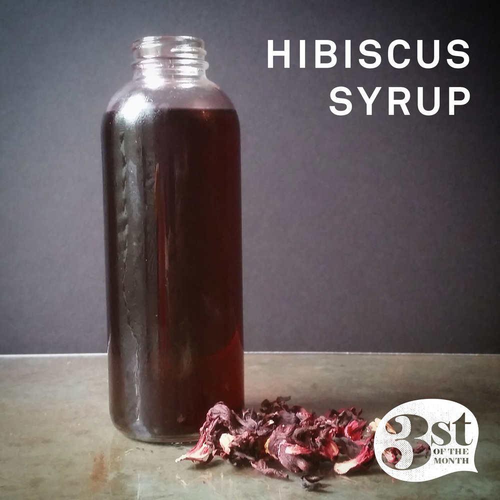 Make your own Hibiscus Syrup - great for cocktails and more!