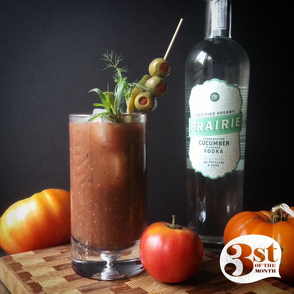 Make your own Bloody Mary from scratch with heirloom tomatoes!