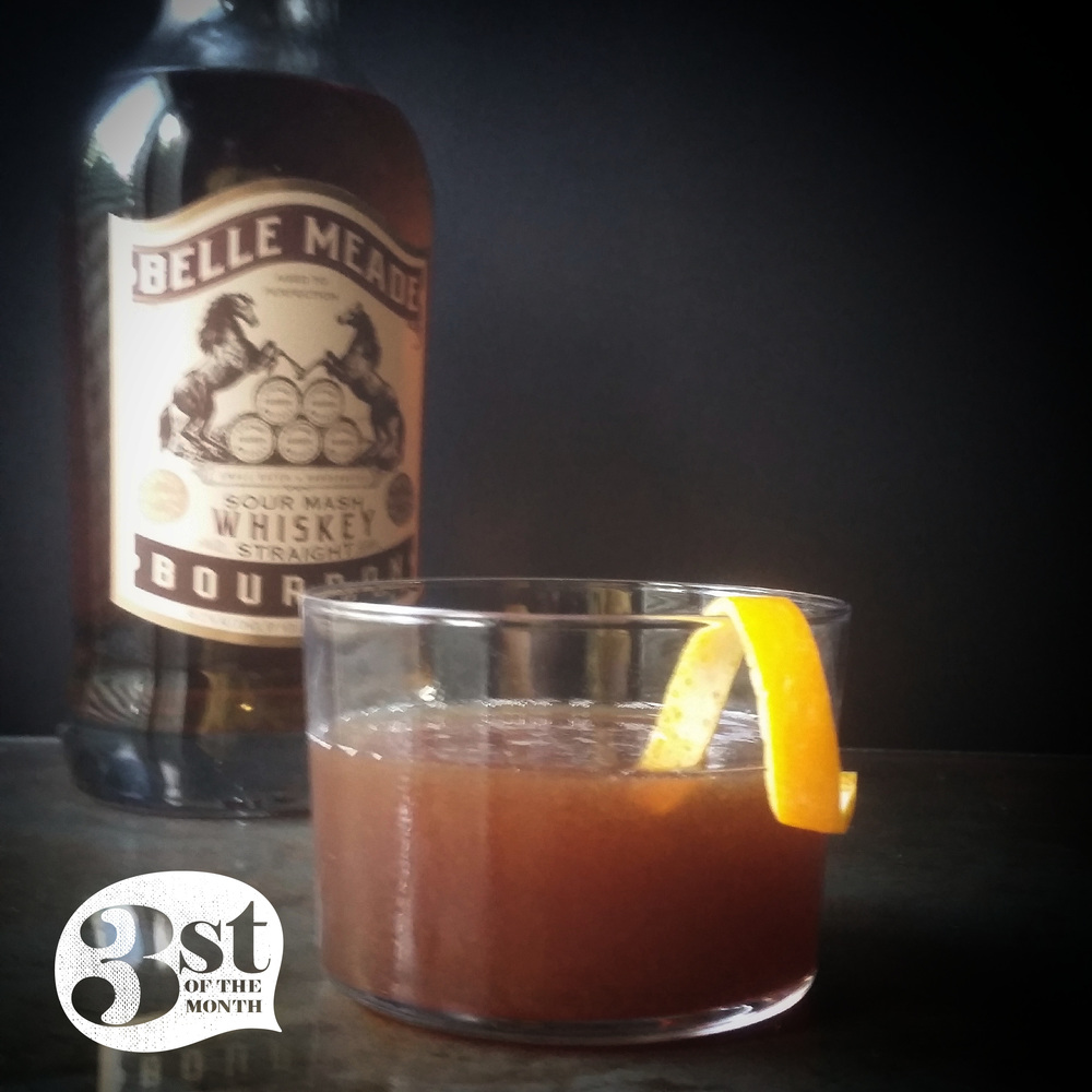 The Ambition Cocktail from 3st of the Month - Made with Belle Meade Bourbon and Pomegranate Molasses!