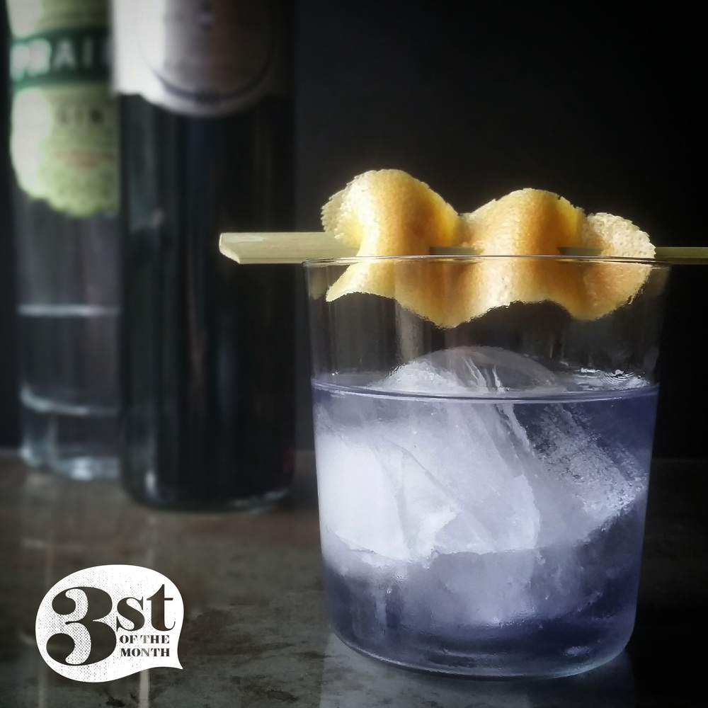 The Violet Beauregarde Cocktail from 3st of the Month - Gin, Crème de Violette, Falernum and more...