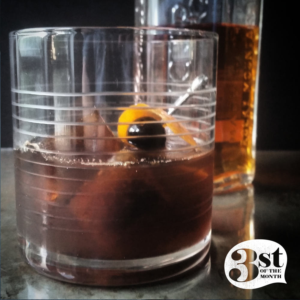 Made with black coffee ice cubes, this Cowboy Coffee Cocktail is one to try!