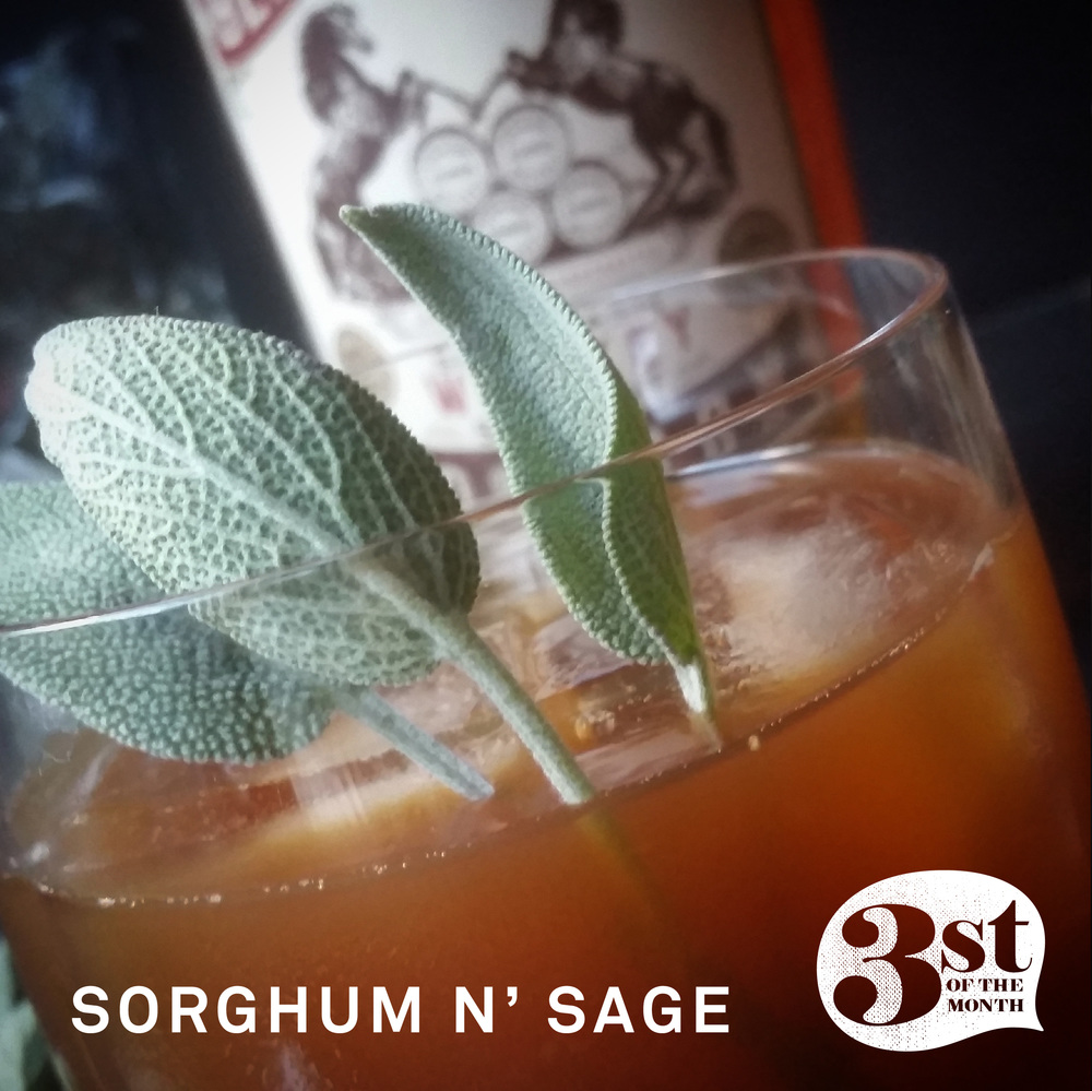 The Sorghum n' Sage bourbon-based cocktail from 3st of the Month