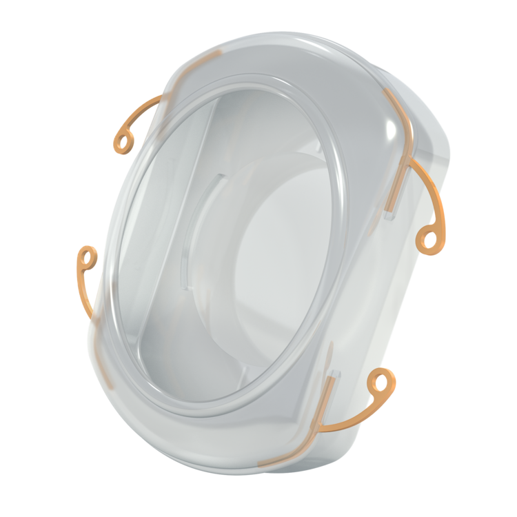 High-resolution, three-dimensional render of the Omega Lens