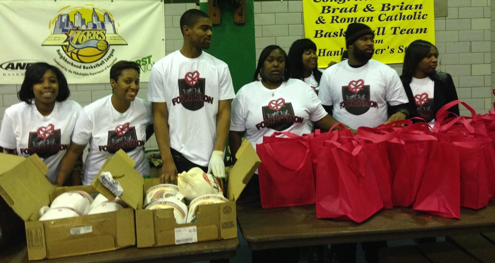 On November 25th, 2013, we held our very first  Lowry Love Thanksgiving  at Hank Gathers Recreation Center. At the event we gave 150 families in need baskets made up of all the ingredients needed for a proper Thanksgiving dinner. Check out photos from the day  HERE .
