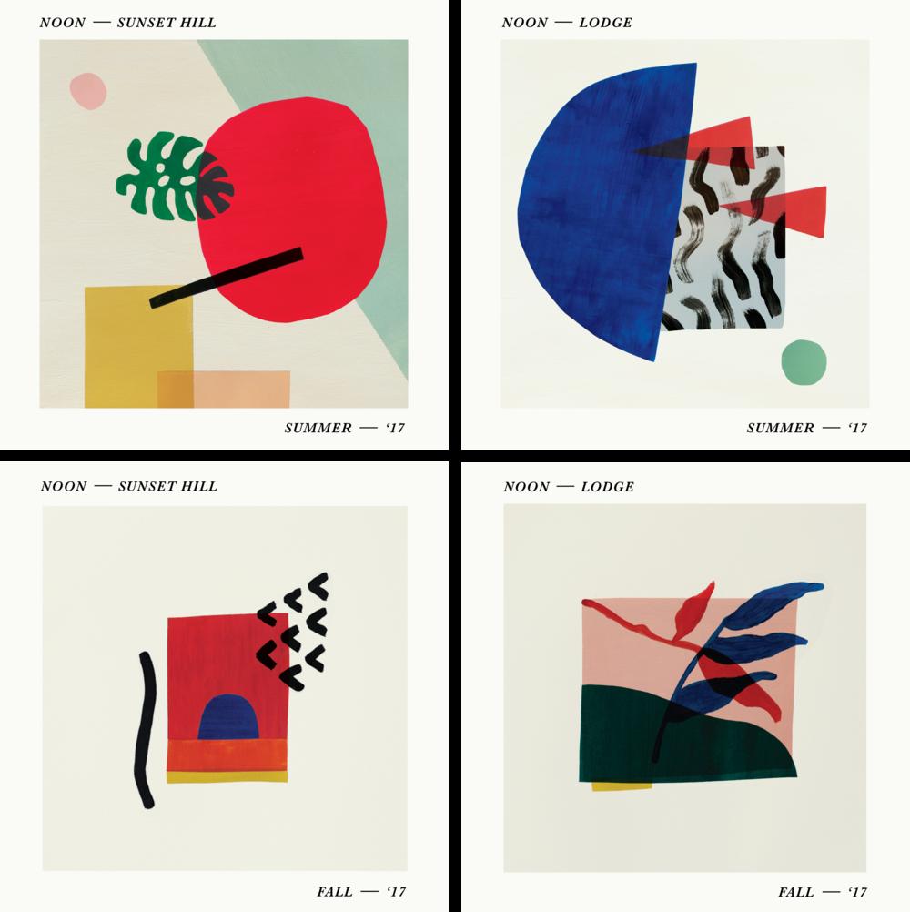 - Seasonal album artworkfor Ponytail Radio andNoon Lodge