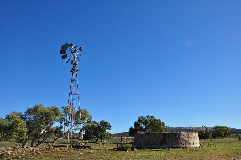Windmill at Murchison House Station