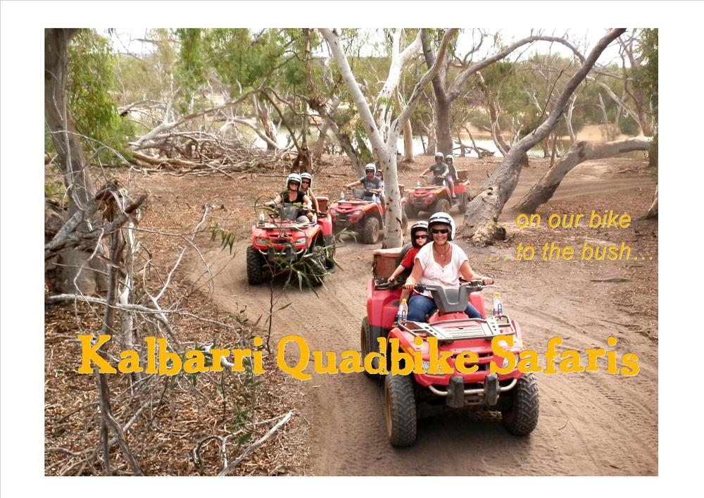 quad biking on the Murchison River Reserve.