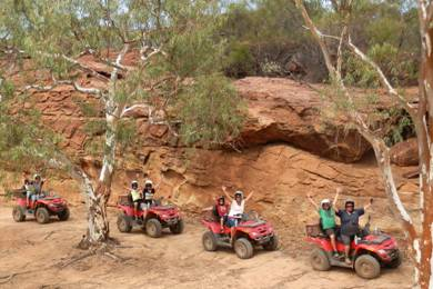 quad biking in the bush in Kalbarri is fun for all
