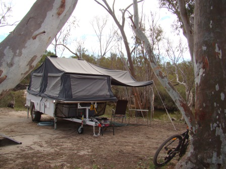 camping by the Murchison River
