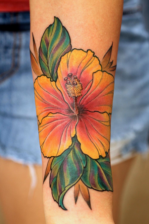 Hawaiian Hibiscus Flower Tattoo Crazywidowfo