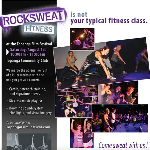 Sign up for RockSweat @TopangaFilmFest 8/1 at 10 am #workout & enjoy #film and #music! http://bit.ly/1TQUmLD