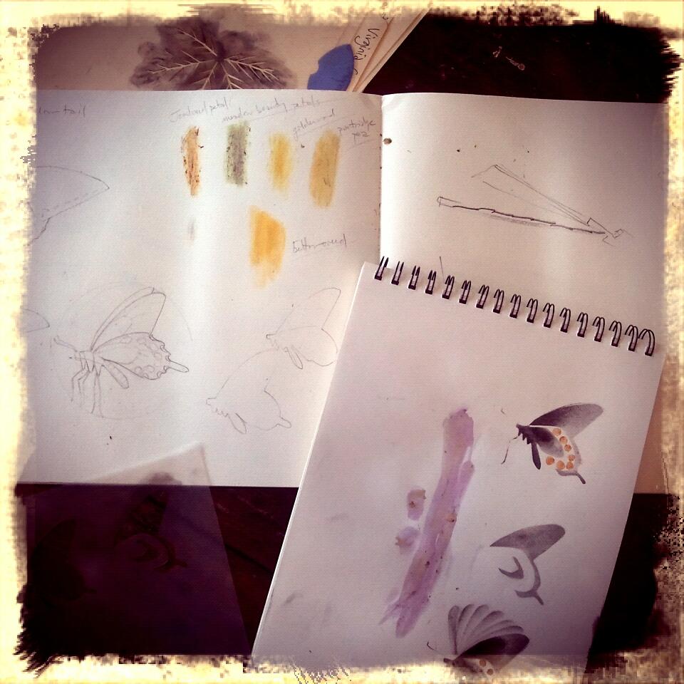 stencil and earth color trials
