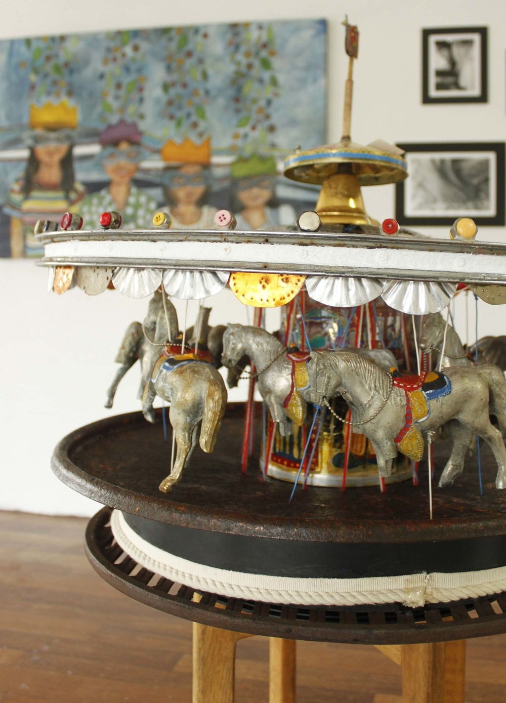 """""""Carousel"""", by Ellie Hannon - recycled objects"""