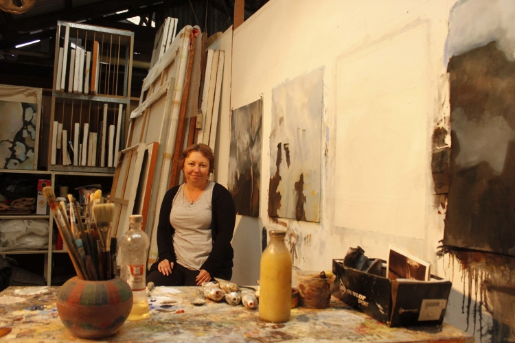 Nicole Chaffey in her studio