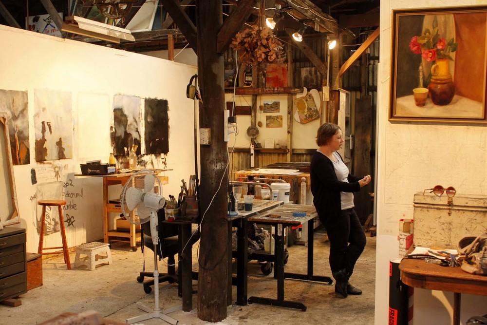 Nicole in her studio