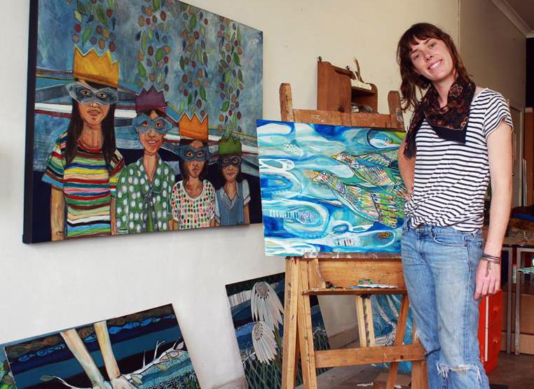 Australian Artist Studio Visit, Newcastle Artist - Ellie Hannon, The Corner Store Gallery