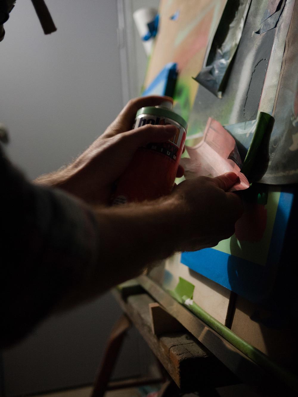 Australian artist studio visit, Melbourne artist - Ben Foster, The Corner Store Gallery, photograph by Emma Smallwood