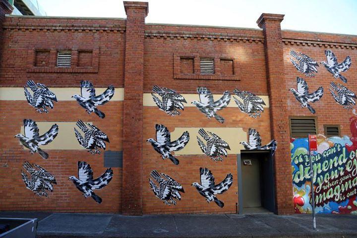 Ben Foster, Newcastle street mural, 2010