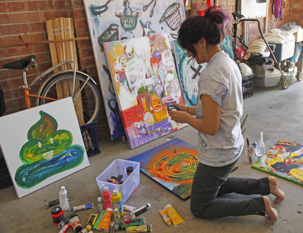 Lily in her studio