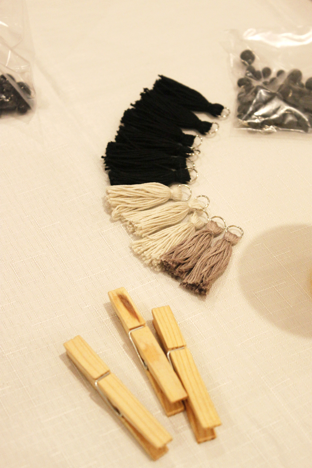 Tassel Necklace workshop, The Corner Store Gallery, Orange NSW, photograph by Madeline Young