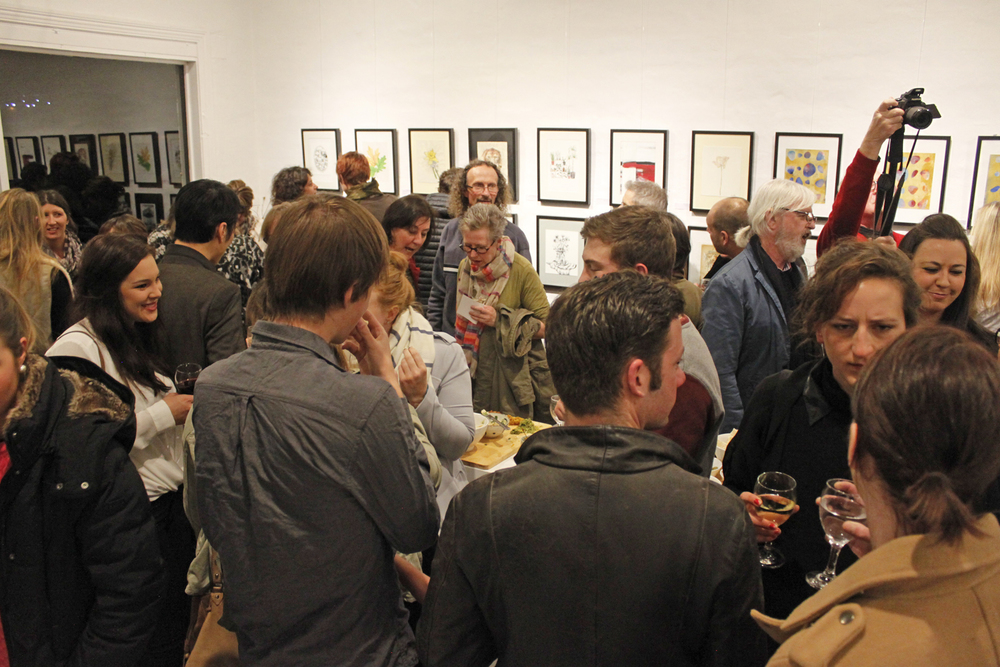Works on Paper  - Group Exhibition opening night, July 2015