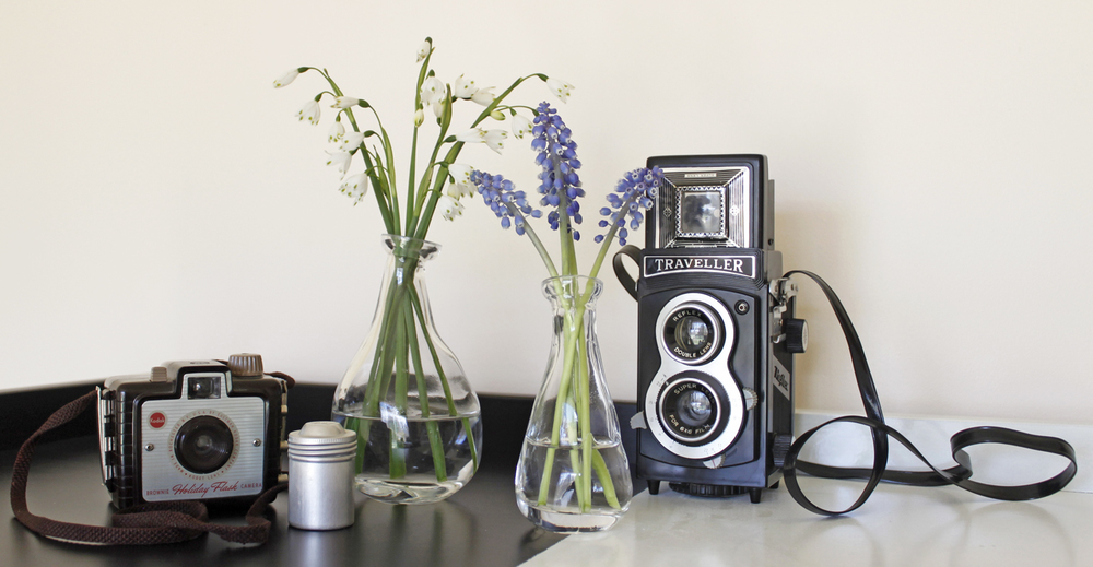 Retro cameras for decoration