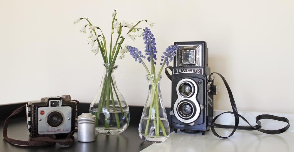 Retro cameras for decoration