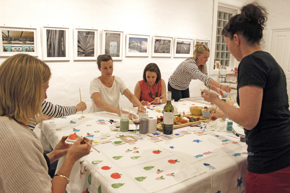 Block Printing Workshop, The Corner Store Gallery, Orange NSW, creative workshops, photograph by Jacqueline Chan