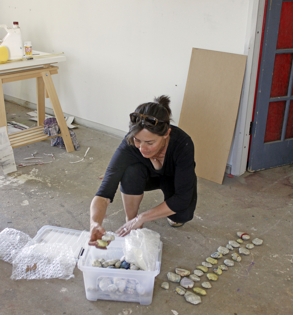 Australian Artist studio visit, Tonya Graham, contemporary sculpture, The Corner Store Gallery, Orange NSW, photograph by Madeline Young