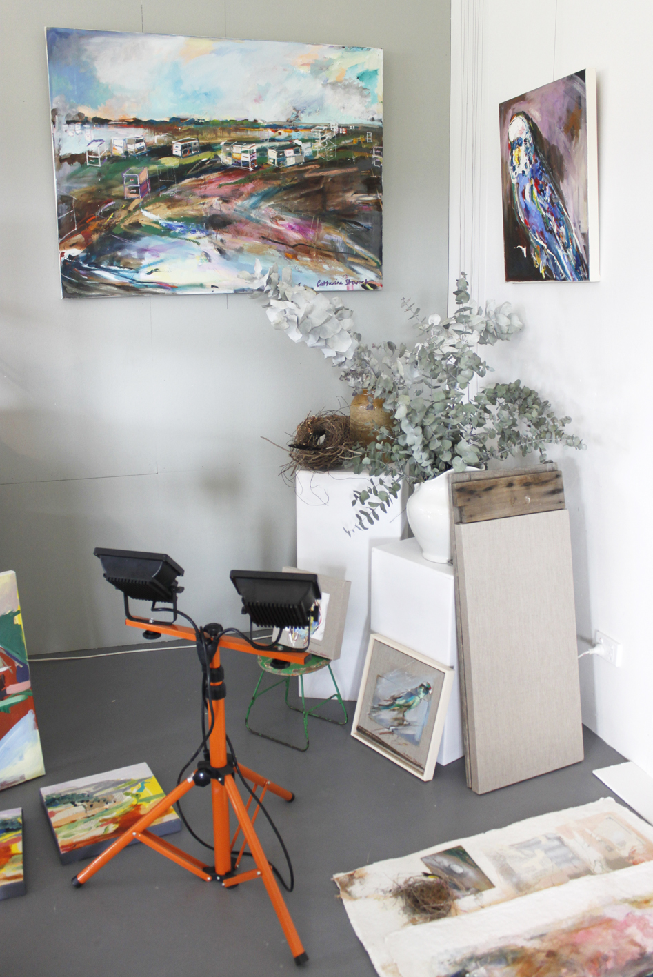 Australian artist studio visit, Catherine Stewart, The Corner Store Gallery, Orange NSW, photographs by Madeline Young