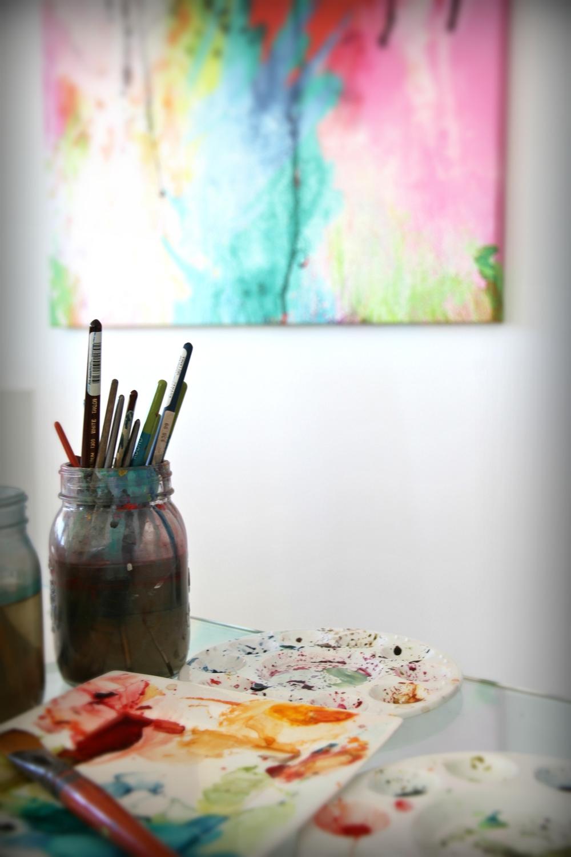Australian Artist Olivia Henry studio visit, The Corner Store Gallery, photograph by Damien Henry
