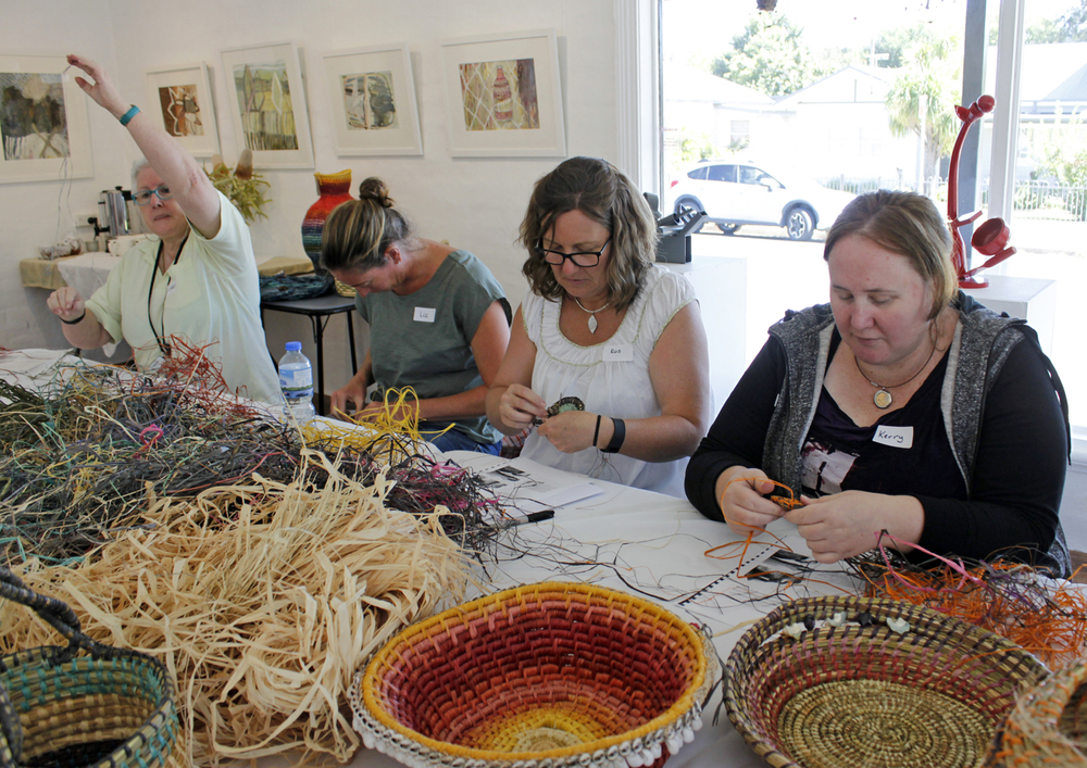 Basket Weaving Workshop with fibre artist Lanny Mackenzie, The Corner Store Gallery, Orange NSW