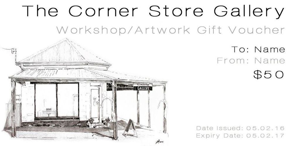 The Corner Store Gallery gift voucher