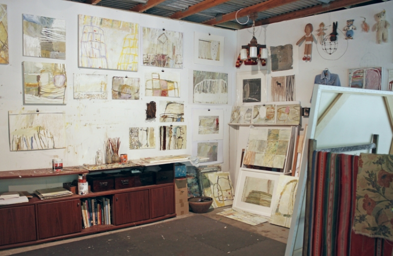 Jaq Davies' studio, Clifton Grove NSW, 2015